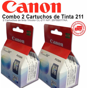 Combo 2 Cartuchos De Tinta Canon 211 Color Cl-211 Originales