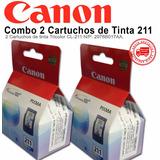 Combo 2 Cartuchos De Tinta Canon 211 Color Cl-211 Originales