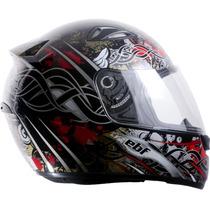 Capacete Esportivo Moto Ebf Eox Aztec Estampado Cor Preto 60