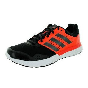 zapatillas adidas negras con naranja