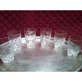 Copas Vasos Antiguos Licor Whisky Cristal Juego De 6