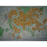Mapa Antiguo Plano Color Ciudad Roma Italia Mapas Planos