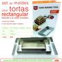 3 Moldes De Torta Rectangular Reposteria D+m Bazar