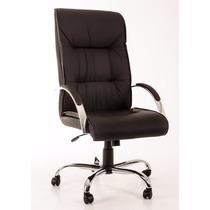 Cadeira Poltrona Presidente Zeus Cromada Relax Travamento