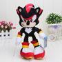 Pelúcia Sonic Sombra Preto Shadow Nintendo Hedgehog Brinqued