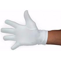 Luva Lycra Masculina Homem Branca Preta Garçom Várias Cores