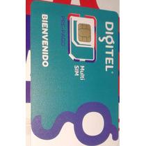 Línea Digitel Para Ban 3g Y Teléfono, Plan 1250 Mb
