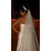 Vestido De Noiva / Vestido De Dama Florista / Véu 3 Metros