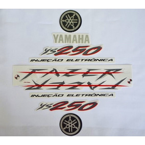 Jogo De Adesivos Kit Faixas Ys Fazer 250 2008 Preta
