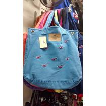 Bolsa Hollister Estilo Sacola Feminina Azul Aço Original