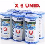 6 Filtros Intex A Pileta Lona Bomba Intex O Bestway Oferta!!