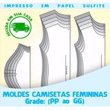 Molde Baby Look Feminina - Receba Impresso Em Casa