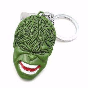 Chaveiro Hulk Face Cara Cabeça Em Metal Color