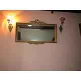 Espelho Cristal Luis Xvi Bizotado Entalhada Folheação A Ouro
