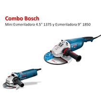 Combo Bosch Mini Esmeriladora 1375 Y Esmeriladora 1850