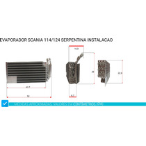 Evaporador Caminhao Scania 114 / 124 Adaptação
