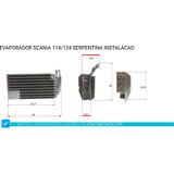 Evaporador Caminhao Scania 114 / 124 P/ Instalação
