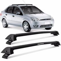 Rack Teto Fiesta Hatch Sedan 2003 A 2015 Eqmax Wave Preto