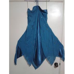 Vestido Corto De Noche Para Damas Color Turquesa