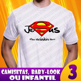 Camiseta Evangélicas Cristã Camisa Religiosas Jesus Gospel