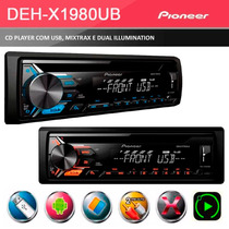 Cd / Mp3 Player Mixtrax Pioneer Deh-x1980ub C/ Entrada Usb
