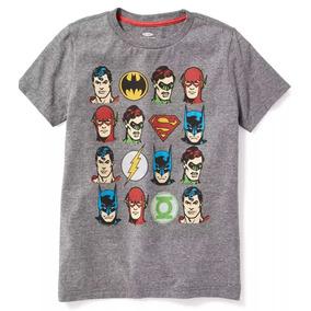 Playera Liga De La Justicia Superman Batman Niño Gap.