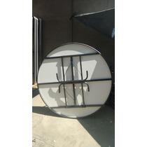 Mesa Redonda Plegable Fibra De Vidrio