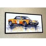 Placa Decorativa 28x14cm * Porsche 914 Gt Rally *.by El Lulu