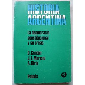 Cantón. La Democracia Constitucional Y Su Crisis. 1980