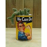 Macetas Latas Recicladas Con Suculentas Y Cactus