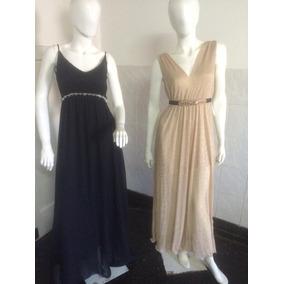 Vestidos Largos Veige Y Negro 800.00