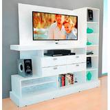 Rack Tv Lcd Mueble Mosconi Tv Led 55 Modular Blanco/ Wengue