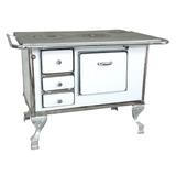 Cocina A Leña Enlozada Blanca Nº 2 (78 Kg.) ¡envío En Promo!