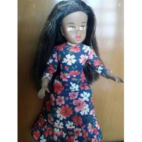 Boneca Susi Morena Olhos De Mel Antiga