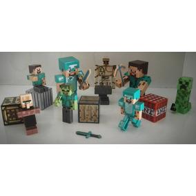 Minecraft Kit 16 Peças Boneco Brinquedo Frete Barato