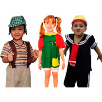 Fantasia Chaves, Chiquinha E Kiko Infantil Turma Do Chaves