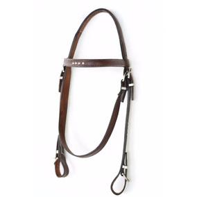 Cabeçada Couro C/ Enforcador Cavalo Montaria Rodeio Laço Cg1