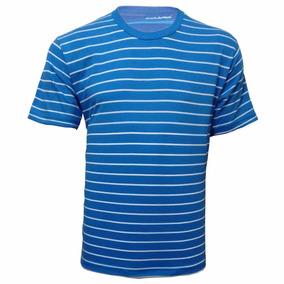 Camiseta 100% Algodão Listrada L 34