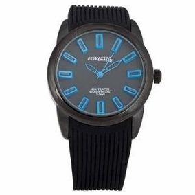 Reloj Q&q Attractive Db10j522ynegro Analogo Wr50m