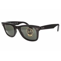 Óculos Sol Rayban Wayfarer Rb2140 Preto Lente Preta Original
