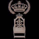 Banco Cadeira Mdf Coroa Princesa Príncipe Ramos Provençal