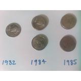 Moneda 5 Cinco Pesos Quetzalcoatl 1982 1984 1985