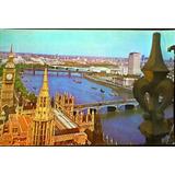Tarjeta Postal Londres - Big Ben - Tamesis - 1971 - C/sello
