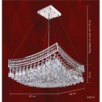 Lustre Cristal Pendente Iluminacao Parede Sala 2423-6-pd Mr
