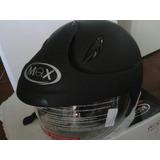 Casco Max Nuevo Con Protector Seguridad Moto Barato