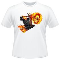 Camiseta Motoqueiro Fantasma Ghost Rider Moto Camisa