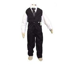 Conjunto Social Masculino Infantil Festa Calça Camisa Gravat