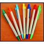 Lapiceros Publicitario Ecológico X 100 Und. 1 Color Logo