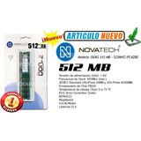 Memoria Ram Ddr2 - 512mb/533mhz - Novatech - Garantia 1 Año