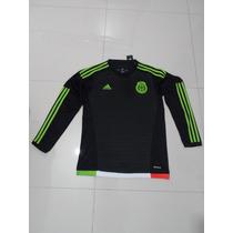 Jersey Adidas De La Selección De Mexico En Manga Larga